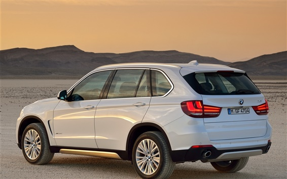 Wallpaper BMW X5 xDrive30d white SUV car