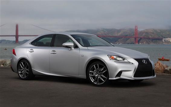 Обои Lexus IS 50 серебряных вид сбоку автомобиля