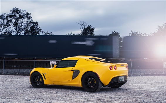 Fond d'écran Lotus Exige supercar jaune