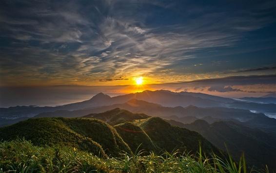 Wallpaper Morning, mountain, sunrise