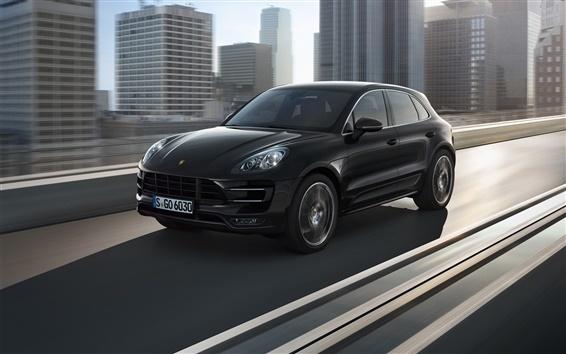 Fond d'écran Porsche Macan 2014 voiture SUV noir