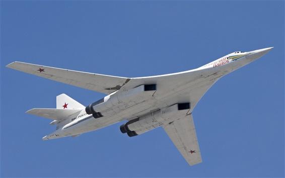 Wallpaper Tu-160 supersonic strategic bomber, White Swan