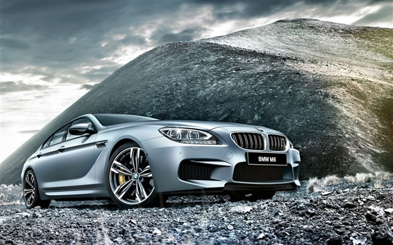 Wallpaper 2015 BMW M6 F06 silver car