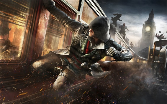 Fond d'écran Assassin 's Creed: Syndicate, l'action, train