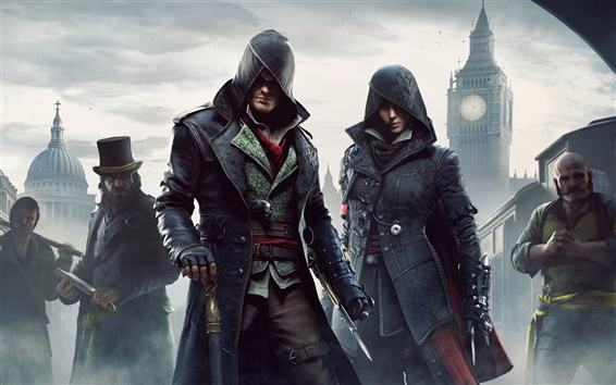 Fondos de pantalla Assassins Creed: Distribuir, ciudad, niebla
