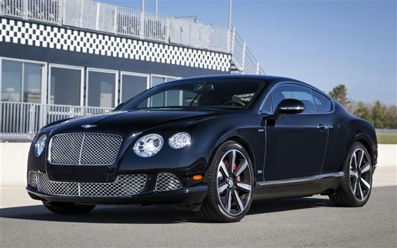 Wallpaper Bentley Continental GT Speed, Le Mans Edition, black car