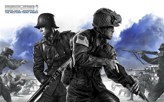 Wallpaper Company of Heroes 2, game HD
