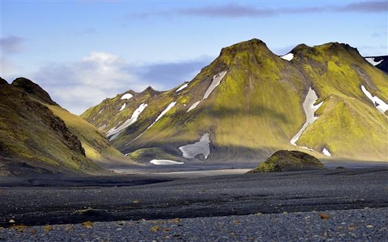 Wallpaper Mountains, snow, sky, Iceland