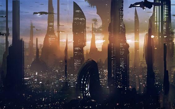 Fondos de pantalla Star Wars, rascacielos, ciudad futura