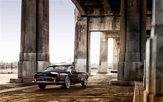 Обои 1959 Ferrari 250 GT черный автомобиль