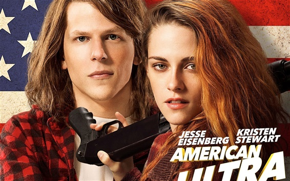 Fondos de pantalla Americana Ultra, Kristen Stewart, Jesse Eisenberg