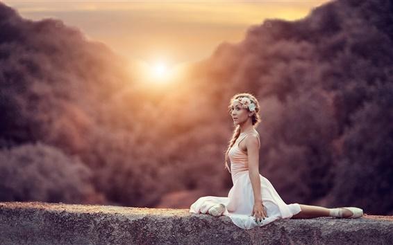Wallpaper Ballerina, girl, sun