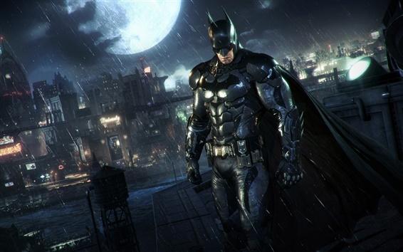 Wallpaper Batman: Arkham Knight, rain, night