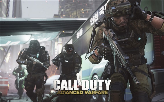 Wallpaper Call of Duty: Advanced Warfare, secret action
