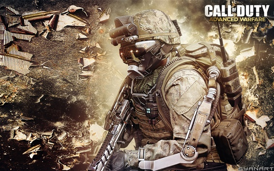 Wallpaper Call of Duty: Advanced Warfare, soldier and equipment