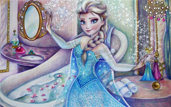 Wallpaper Cold, Frozen, Disney movie, Elsa