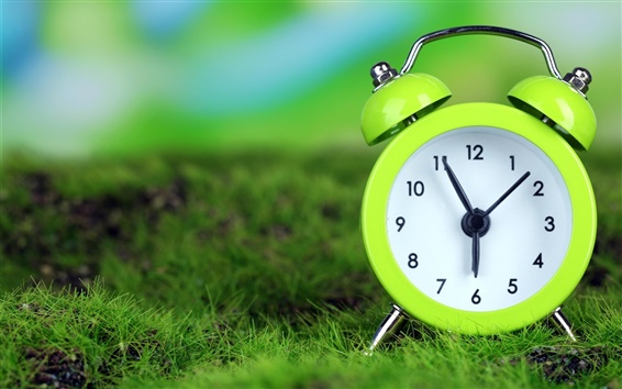 Wallpaper Green alarm clock