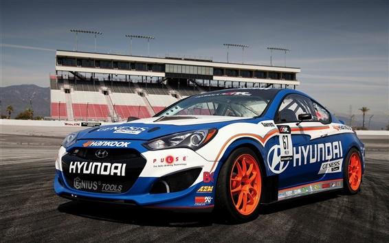 Wallpaper Hyundai Genesis race car
