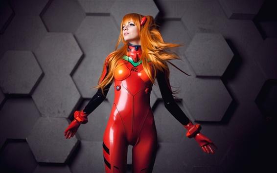 Обои Neon Genesis Evangelion Аска Лэнгли, косплей девушка