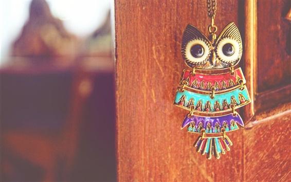 Wallpaper Owl pendant, gate, still life