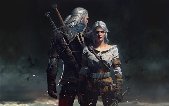 Wallpaper The Witcher 3: Wild Hunt, HD game