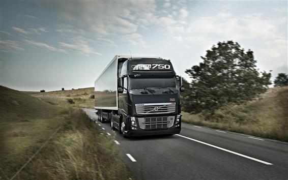 Wallpaper Volvo FH16 750 truck, road, speed