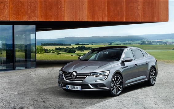 Wallpaper 2015 Renault Talisman gray car