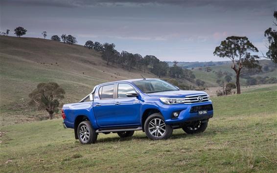 Fondos de pantalla 2015 Toyota Hilux SR5 azul jeep
