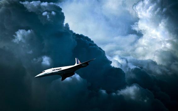 Wallpaper Air France, British-French supersonic passenger plane