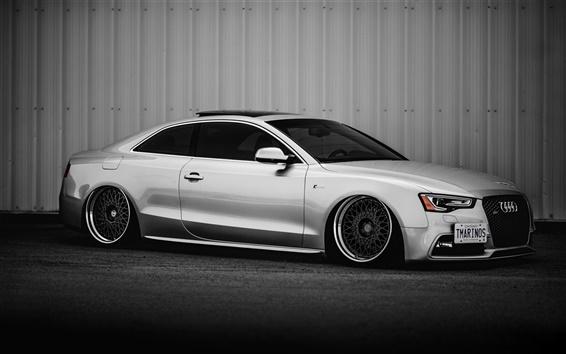 Fond d'écran Audi S5 voiture d'argent vue de côté