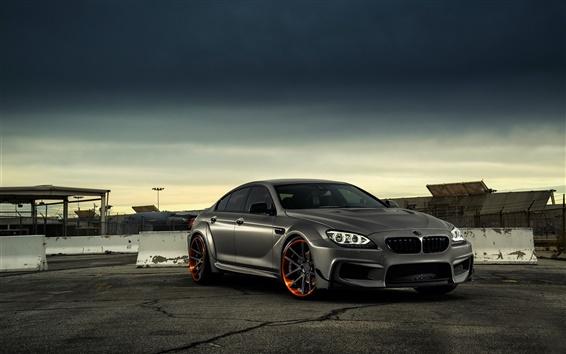 Обои BMW M6 матовый черный автомобиль