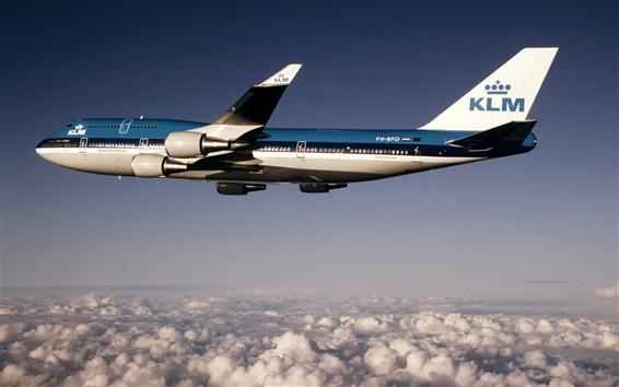 Wallpaper Boeing B-747 plane flight height