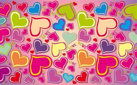 Fondos De Pantalla Corazones De Colores Amor 2560x1440 Qhd Imagen