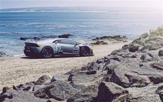 Papéis de Parede Lamborghini LP620-2 supercar Huracan