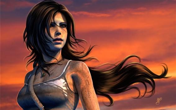 Wallpaper PC game, Lara Croft, Tomb Raider, sunset
