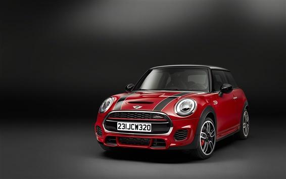 Fond d'écran rouge Mini 2,014 voiture