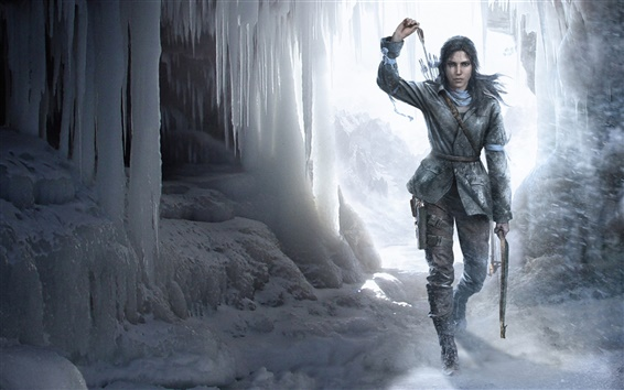 Fond d'écran Rise of the Tomb Raider, glace, hiver
