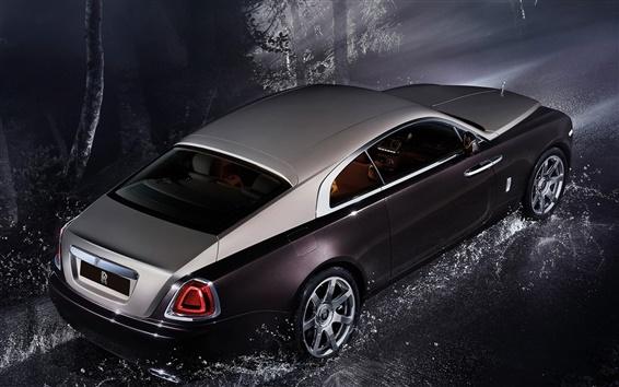 Wallpaper Rolls-Royce Wraith luxury car at night