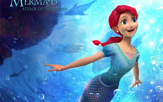 Wallpaper The Little Mermaid: Attack of The Pirates, 2015 cartoon movie