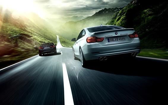 Wallpaper 2014 Alpina BMW 4 Series car speed