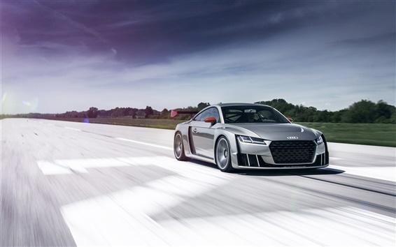 Wallpaper 2015 Audi TT turbo concept car speed