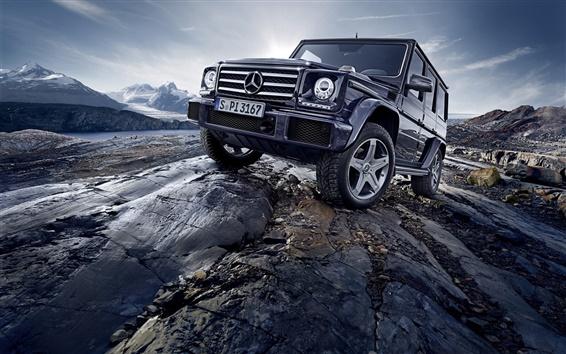 Обои 2 015 Mercedes-Benz G500 W463 внедорожник автомобиль