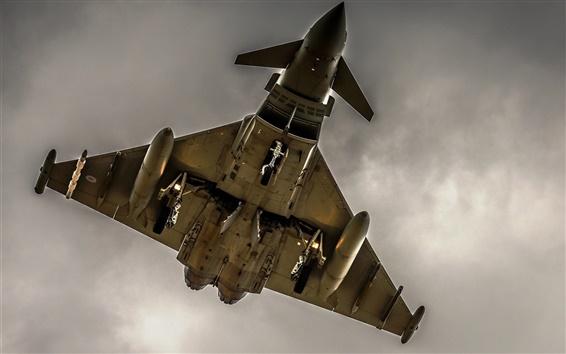 Fondos de pantalla Aviones, armas, bombardero, vista desde abajo