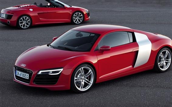 Wallpaper Audi car red color