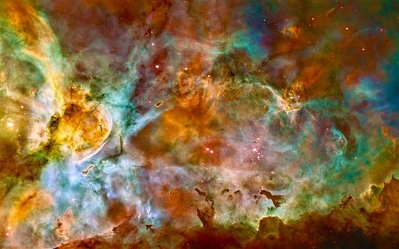 Обои Туманность Киля, звезды, Хаббл