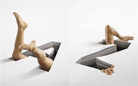 壁紙 危険ゾーン、創造的な絵