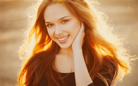 Wallpaper Elena, Golden hair girl