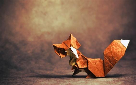 Обои Оригами искусство, лиса