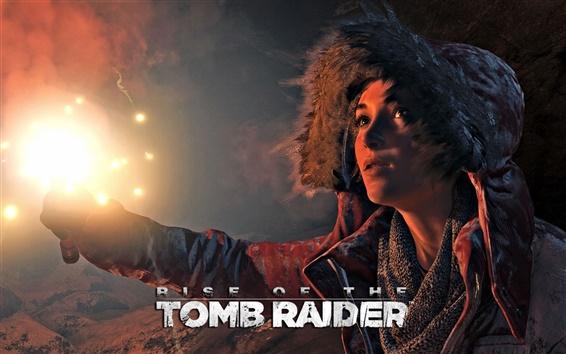 Wallpaper Rise of the Tomb Raider, Lara Croft, night, firelight