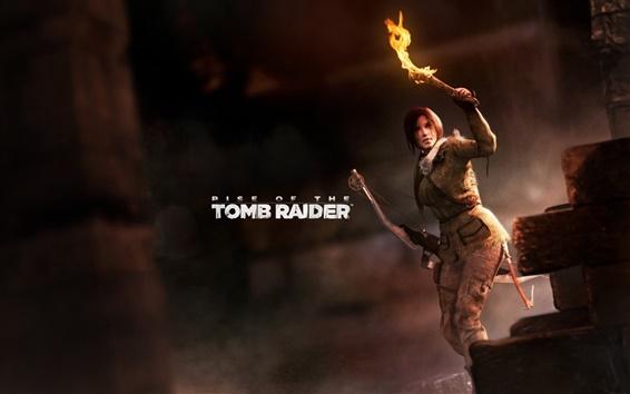 Wallpaper Rise of the Tomb Raider, Lara Croft, torch
